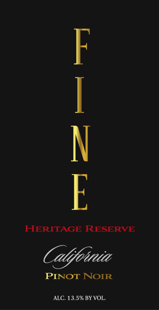 Fine wine front label_Pinot Noir